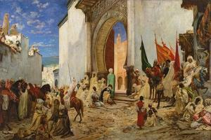 Entry of the Sharif of Ouezzane into the Mosque, 1876 by Georges Clairin