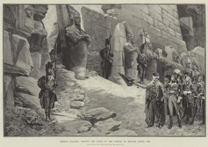 French Soldiers Visiting the Ruins of the Temple of Karnak, Egypt, 1798 by Georges Clairin