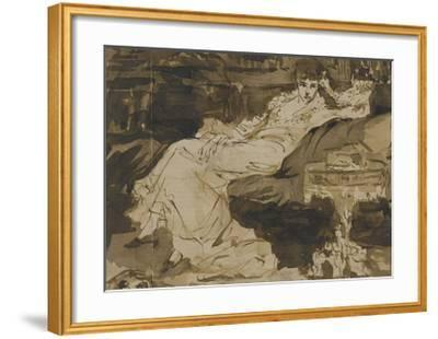 Portrait de Sarah Bernhardt, étude préparatoire