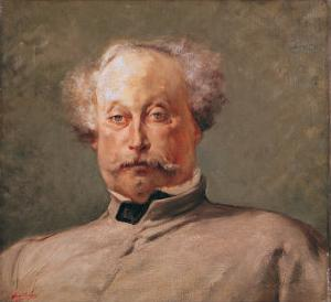 Portrait of Alexandre Dumas Fils (1824-95) by Georges Clairin