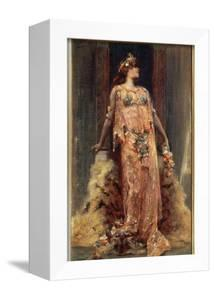 Sarah Bernhardt (1844-1923) in the Role of Cleopatra by Georges Clairin