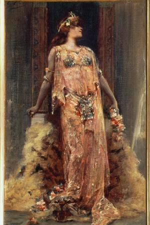Sarah Bernhardt (1844-1923) in the Role of Cleopatra