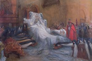 Sarah Bernhardt in the Title Role of Saint Teresa of Avila in the Play 'La Vierge d'Avila' by… by Georges Clairin