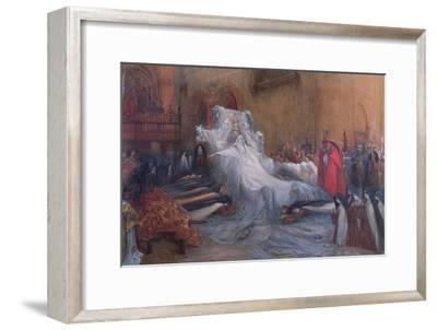 Sarah Bernhardt in the Title Role of Saint Teresa of Avila in the Play 'La Vierge d'Avila' by…