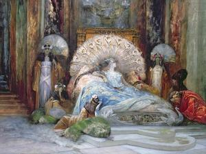 Sarah Bernhardt in Title Role of 'Theodora', by Victorien Sardou, produced in Paris in 1884, 1902 by Georges Clairin