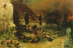 The Chouans Defending their Dead, 1902 by Georges Clairin