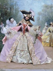 The Masked Ball (18th century costumes) by Georges Clairin