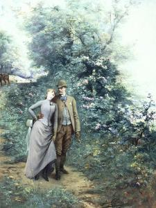Walk in the Wood by Georges Clairin
