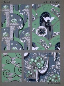 Wallpaper Design, from 'Idees', Published by A. Calavas, Paris, C.1925 (Colour Litho) by Georges Darcy