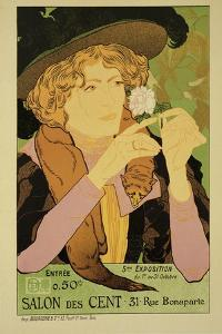 Reproduction of a Poster Advertising the '5th Exhibition of the Salon Des Cents' by Georges de Feure