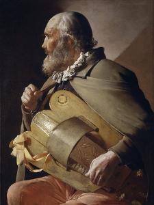 Blind Hurdy-Gurdy Player, 1610-1630 by Georges de La Tour