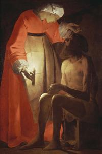 Job Mocked by His Wife by Georges de La Tour