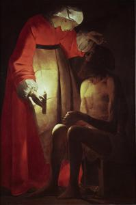 Job Visited by His Wife, 17th century by Georges de La Tour