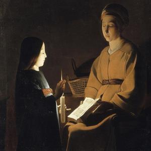 L'éducation de la Vierge by Georges de La Tour