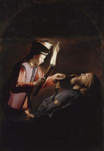 La Découverte du corps de saint Alexis (copie d'après un original perdu) by Georges de La Tour