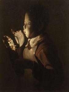 Le souffleur à la lampe by Georges de La Tour