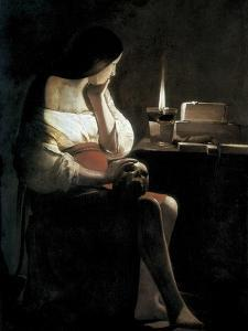 Mary Magdalene with a Night-Light, or the Terff Magdalene (La Madeleine a La Veilleuse) by Georges de La Tour