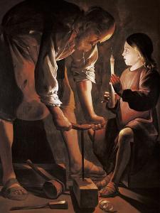 Saint Joseph the Carpenter by Georges de La Tour