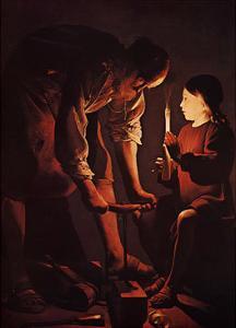 St Joseph Charpentier by Georges de La Tour