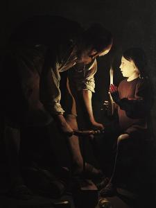 St. Joseph, the Carpenter, circa 1640 by Georges de La Tour
