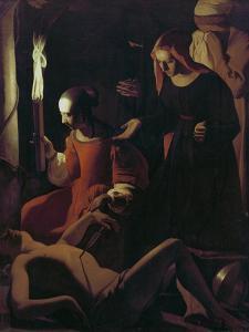 St. Sebastian Tended by St. Irene, C.1649 by Georges de La Tour