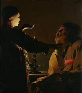 'The Appearance of the Angel to St. Joseph', also known as 'The Dream of St. Joseph', 1652 by Georges de La Tour
