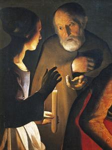 The Denial of St Peter, 1650 by Georges de La Tour