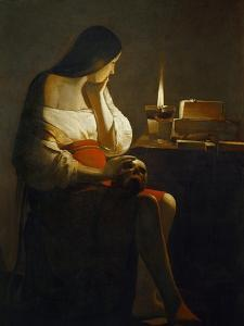 The Magdalene with a Night Light by Georges de La Tour