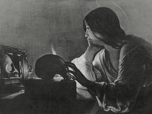 The Magdalene with the Mirror by Georges de La Tour