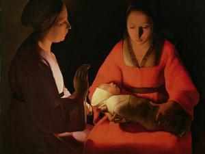 The New Born Child, Late 1640 by Georges de La Tour