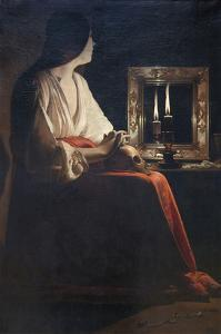 The Penitent Magdalen by Georges de La Tour