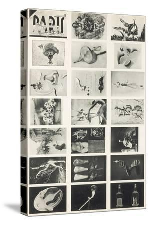 Full Undivided Sheet of the First Series of 21 Surrealist Picture Postcards, 1937