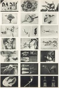 Full Undivided Sheet of the First Series of 21 Surrealist Picture Postcards, 1937 by Georges Hugnet