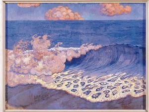 Blue Seascape, Wave Effect, c.1893 by Georges Lacombe