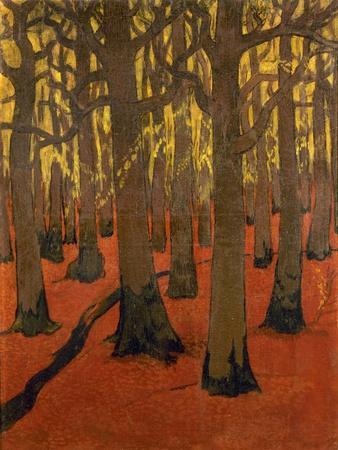 La Forêt au sol rouge