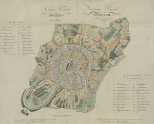 Map of Moscow, 1824 by Georges Lecointe De Laveau