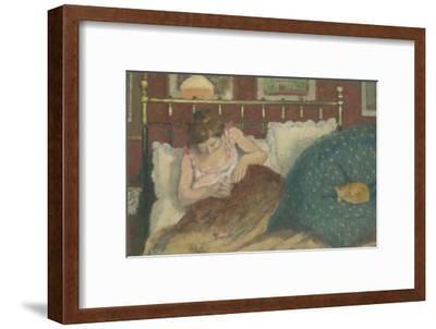 Au lit, dit aussi La femme au chat