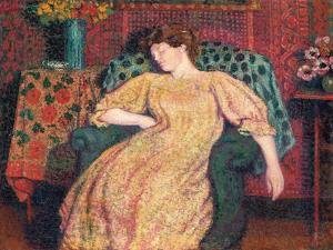 Endormie, or La Sieste, C.1906 by Georges Lemmen