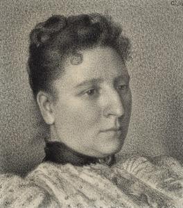 Portrait of Anna Boch, 1894 by Georges Lemmen
