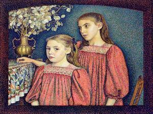 The Two Sisters, the Serruys Sisters, 1894 by Georges Lemmen