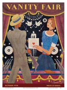 Vanity Fair - Magazine Cover October, 1930 - Carnival Shooting Gallery by Georges Lepape