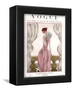 Vogue Cover - April 1923 - Pink Evening Gown by Georges Lepape