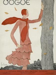Vogue Cover - August 1929 by Georges Lepape