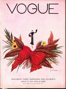 Vogue Cover - August 1932 by Georges Lepape