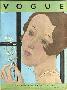 Vogue Cover - February 1930 by Georges Lepape