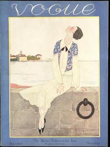 Vogue Cover - July 1925 by Georges Lepape