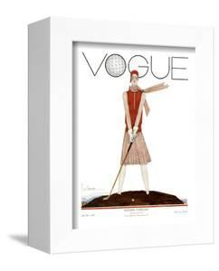 Vogue Cover - July 1929 - Tee Time by Georges Lepape