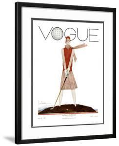 Vogue Cover - July 1929 by Georges Lepape