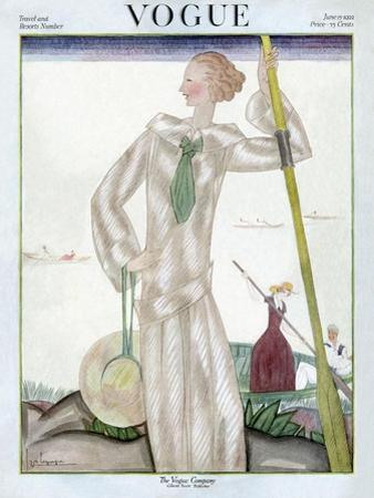 Vogue Cover - June 1922 by Georges Lepape