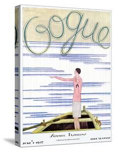 Vogue Cover - June 1927 by Georges Lepape